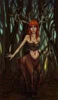 Forest deer girl by eev11