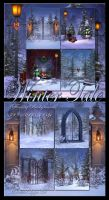 Winter Tale Backgrounds by moonchild-ljilja
