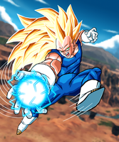 vegeta super sayen 3 by DrabounZ