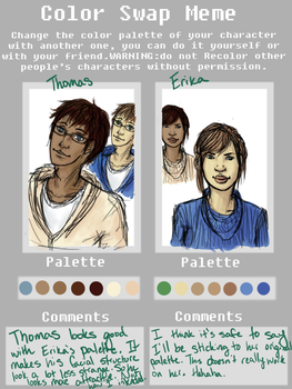 Palette Swap Meme - Thomas and Erika by Hearts-Are-Cold