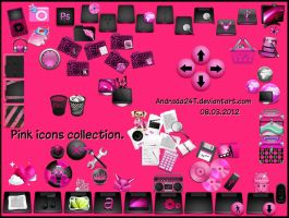 Pink icons collection by Andrada24T