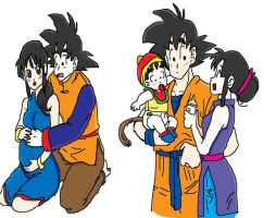 Goku and Chichi colored by Krispina-The-Derp