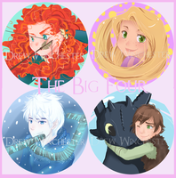 Big Four Badges by SkyDrew