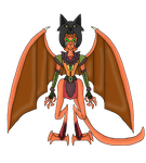 Kyle in Gargoyle Form by FireEmber345