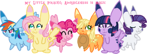 My Little Pikachu:  Adorableness is Magic by Serene-Solace