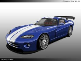 Dodge Viper Vector by dr-phoenix