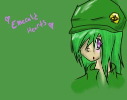 Emerald Hearts Walpaper by CautiousInsanity