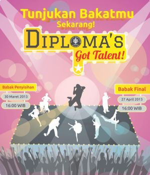 Backdrop Diploma's Got Talent by dendicious