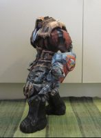 War from Darksiders papercraft gif by minidelirium
