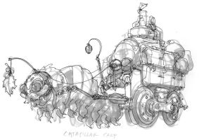 Caterpillar Cart concept by DanNortonArt