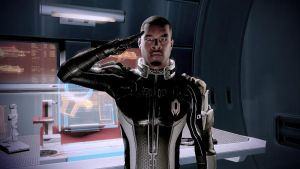 Jacob Salute in the Armory - Mass Effect 2 by loraine95