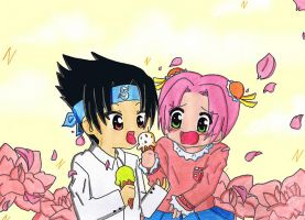 Ice cream and cherry blossom by LuckyAngelausMexx