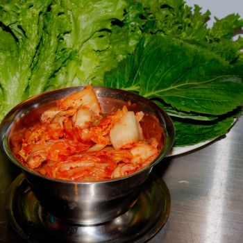 Kimchi and Ssam Greens by chef-chad