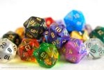 Fragments of Color - Pile of D20s by HowManyDragons
