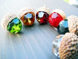 Glass Acorns by MaryBunnie