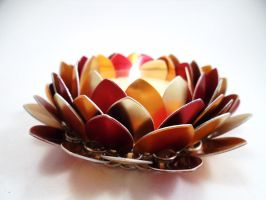 Fall Mum Scale Flower Candle Holder by SerenityinChains