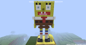 My Version of Minecraft Spongebob Pixel Art by Naoki2534