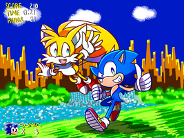 Sonic and Tails by Garkarios