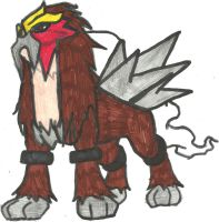 Entei Coloured by CoolMan666