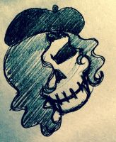 SS - Picasso Skull by La-Mishi-Mish