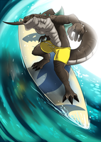 Surfingzilla by fcaiser