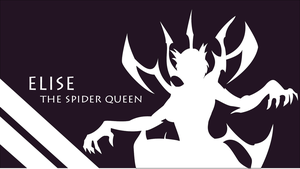 EliseTheSpiderQueen Silhouette - Large - 1920x1080 by urban287