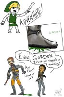 Gordon vs Link - Squish by thebadguysagirl