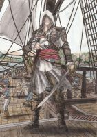 Assassin's Creed Black Flag Captain Edward Kenway by Phoenix74n