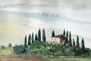 A Tuscan View by iloveminties