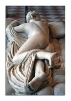 Hermaphroditus asleep 2 by unclejuice