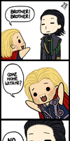 Nyoron Thor and Loki by subaru87