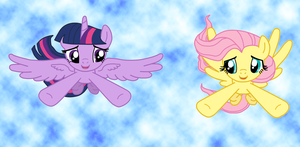 Flying buddies by Fluttershy626