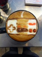 Nintendo NES Controller Latte by Coffee-Katie