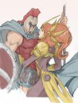 Pantheon and Leona by dorkynoodle
