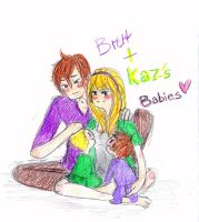 Brett and Kaz BABYEZ by MissBillyF