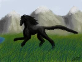 Mystical Horse Panther Thing by Autopunk