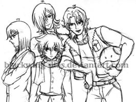 Gundam 00 - Meisters by blackwing-dias