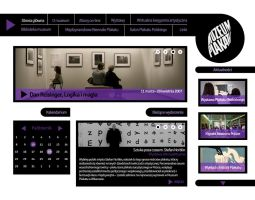Website for Wilanow Poster Museum II by niobe-pro