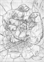 Sketch Card: Hulk by EJMorges