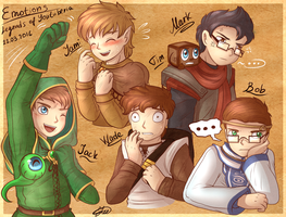 .: Legends of YouTuberia - Emotions Quick Art :. by AquaGD