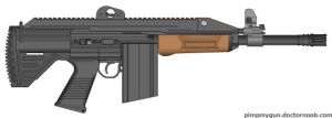 MAR-4 Mendeleev Assault Rifle Model 4 by king11fallen