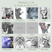 2013 - Summary of (mainly) Traditional Art by lapis-lazuri