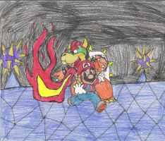 Mario vs. Bowser by thereisnoend01
