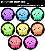 .+ Jellyfish Button Designs +. by tobi2moodring