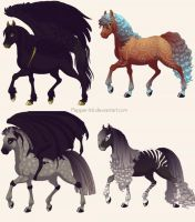 Horse Adoptables -CLOSED- by Karliqe