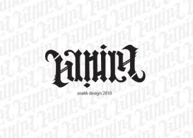 Daniel ambigram by snakkDesign