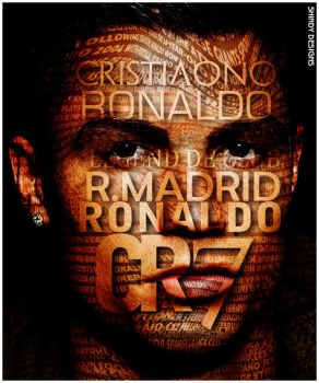 Cristiano Ronaldo Typography by Shindydesigns