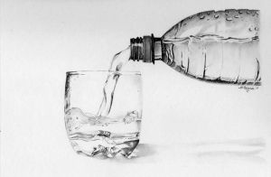 glass of water by flak2013