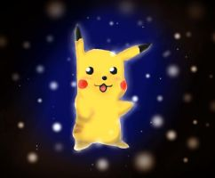 Pikachu in the dark by Lemnel24