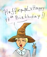 Birthday Greeting from the Sorting hat! by Naddie13